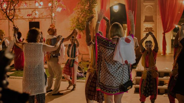Guests dancing in India